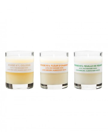 A.P.C. 3-Pack Scented Candles