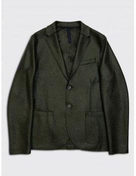 Harris Wharf Light Pressed Wool Blazer Military Green