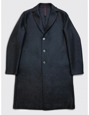 Harris Wharf Pressed Wool Overcoat Dark Blue