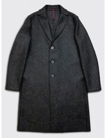 Harris Wharf Pressed Wool Overcoat Anthracite