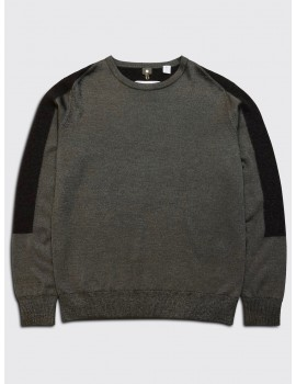 OAMC Block Texture Crewneck Khaki Dark Brown