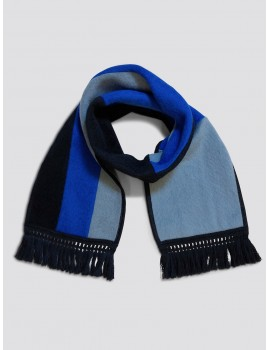 Monsieur Maison Antonio Banderas Scarf Black Grey Blue