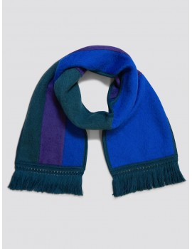 Monsieur Maison Antonio Banderas Scarf Green Purple Blue