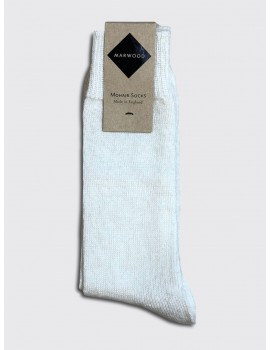 Marwood Mohair Socks Off White