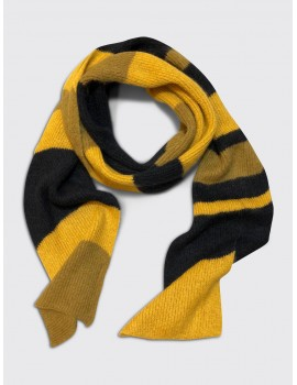 Marni English Rib Stripe Scarf Yellow Black Senape