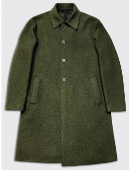 Harris Wharf Over Boiled Wool Mac Military Green