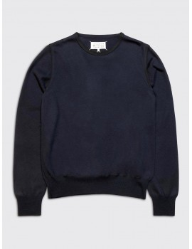 Maison Margiela Crewneck Sweater Dark Blue Black