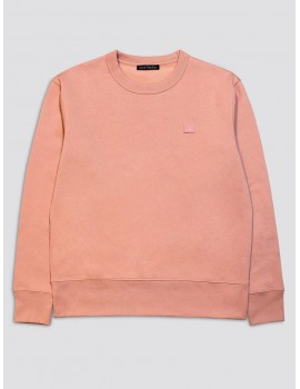 Acne Studios Fairview Face Sweatshirt Pale Pink