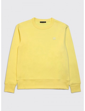 Acne Studios Fairview Face Sweatshirt Pale Yellow