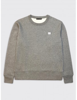 Acne Studios Fairview Face Sweatshirt Light Grey Melange