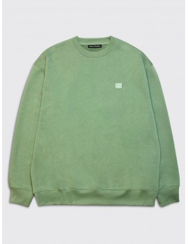 Acne Studios Forba Face Sweatshirt Dusty Green