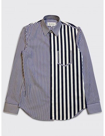 Maison Margiela Decortique Stripe Shirt Blue