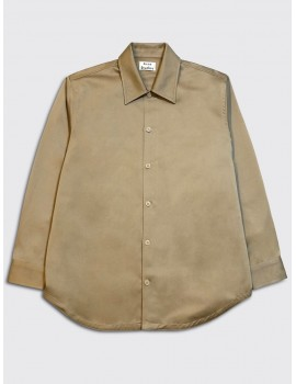 Acne Studios Houston New Overshirt Hazel Beige