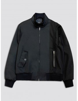 Maison Margiela Spliced Harrington Jacket Navy