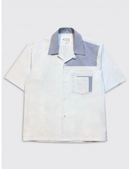 Maison Margiela Camp Collar Shirt Light Blue