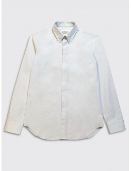 Maison Margiela Tumbled Canvas Shirt Light Blue