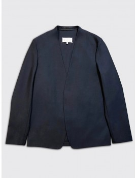 Maison Margiela Collarless Blazer Navy