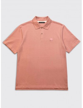 Acne Studios Elton Face Polo Pale Pink