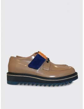 Dries van Noten Velcro Strap Derby Tan