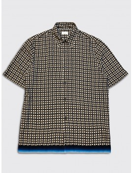 Dries van Noten Clasen Printed Shirt Brown