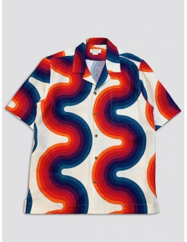Dries van Noten Verner Panton Carlton Shirt Ecru
