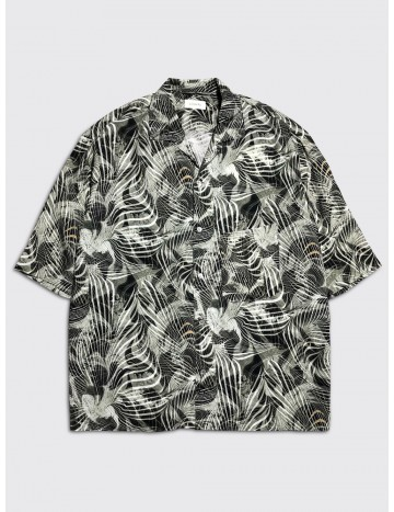 Lemaire Convertible Collar Shirt Tropical Marble Print
