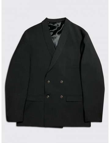 Lemaire Double Breasted Jacket Black