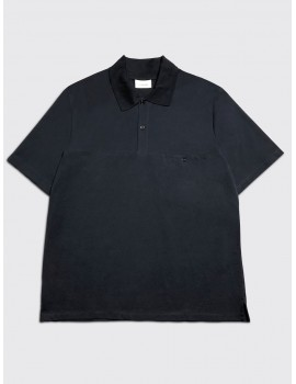 Lemaire Polo Shirt Blue Black