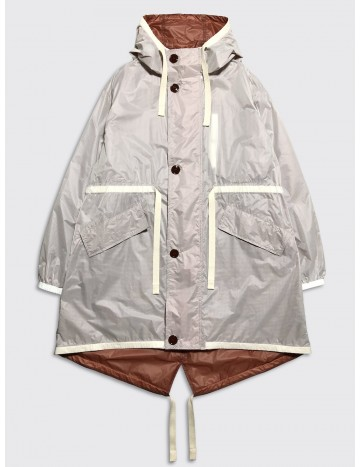 Acne Studios Ola Parka White Orange
