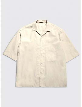 Lemaire Convertible Collar Shirt Nude
