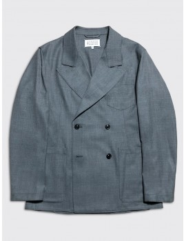 Maison Margiela Wool Poly Jacket Grey