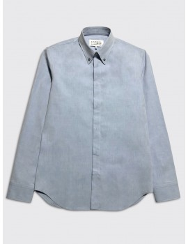 Maison Margiela Tumbled Canvas Shirt Washed Blue