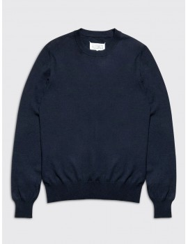 Maison Margiela Elbow Patch Sweater Navy