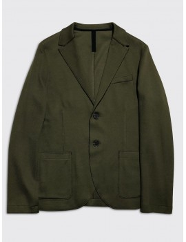 Harris Wharf Cavalry Twill Blazer Military Green