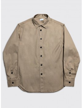 Harris Wharf Camp Collar Shirt Camel