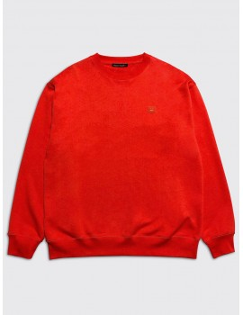 Acne Studios Forba Face Sweatshirt Paprika Red